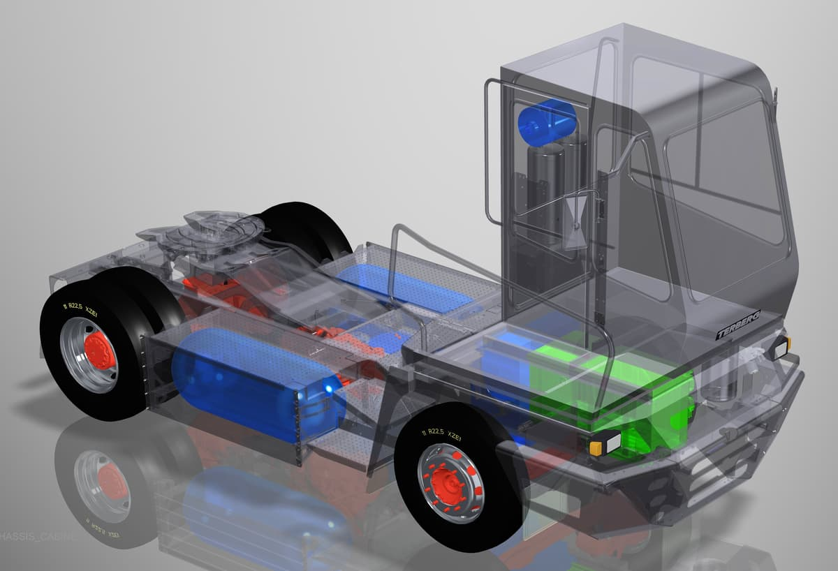 zepp.solutions YT203-H2 Concept, hydrogen fuel cell yard tractor